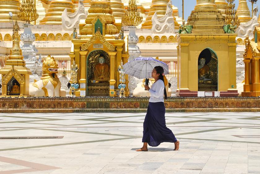 혼자 떠났던 미얀마, 양곤, 쉐다곤 파고다